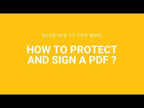 Readiris 17 Mac: Protect and sign a PDF