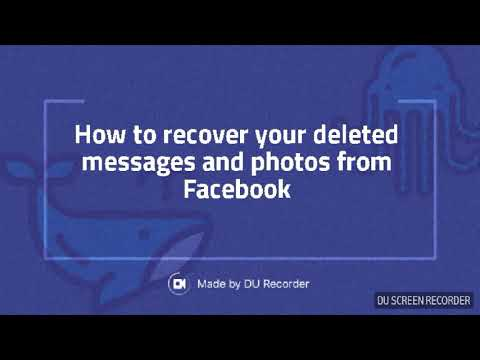 How to recover deleted messages from facebook
