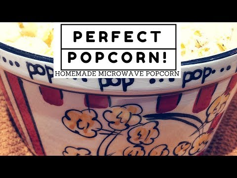 Homemade Microwave Popcorn in a Silicone Popcorn Popping Bowl