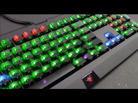 How To Install Max Keyboard Black Translucent Replacement Keycaps on Razer Blackwidow Ultimate 2013