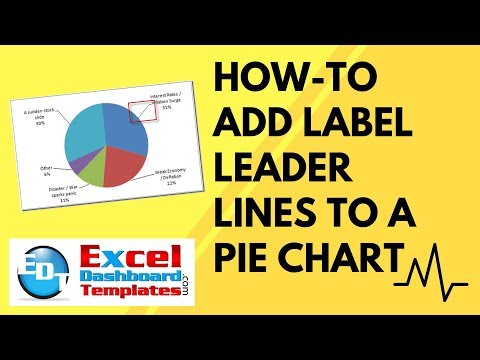How-to Add Label Leader Lines to an Excel Pie Chart