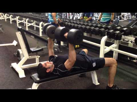 Dumbbell Bench Press - 100 lbs for 6 reps at 168 lbs body weight