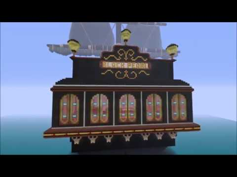 Minecraft Xbox BLACK PEARL Pirate ship Structure Build creation showcase review
