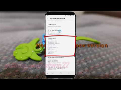 Android Nougat : How to Find Knox version in Samsung Galaxy S8 or S8+