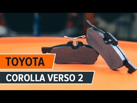 How to change a rear brake pads TOYOTA COROLLA VERSO 2 TUTORIAL | AUTODOC