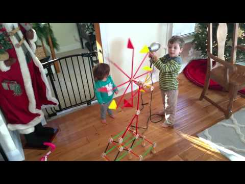 Wy built a windmill with his tinker toys.