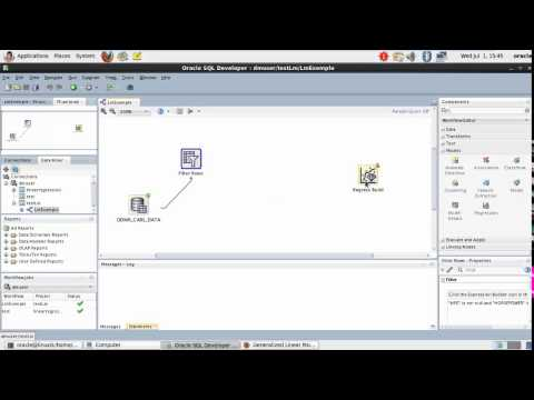 Oracle Dataminer : Linear regression