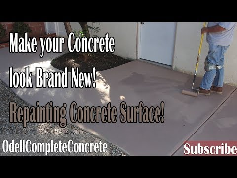 How to Paint Over Concrete Using DeckOver, Cover up your stains, cracks, and blemishes