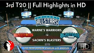 Cricket All Star in America - 3rd T20 || Sachin