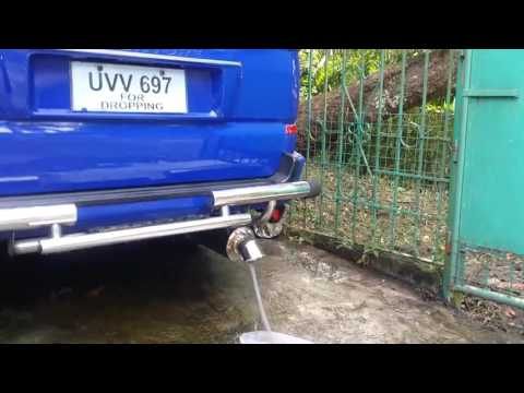 MITSUBISHI ADVENTURE EXHAUST CLEANING