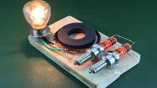Download Science 2019 Free Energy Using Magnet With Spark Plug | Technology Creative Project At Home Video