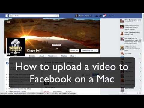 How to Upload a Video to Facebook on a Mac
