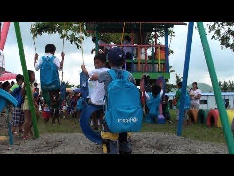 School playground helps 'Yolanda' kids cope with stress