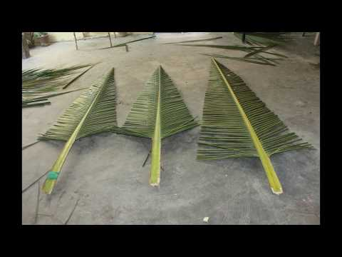 DIY CHRISTMAS DECORATION WITH COCONUT TREE LEAVES. [Low budget]