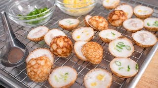 Thai Coconut Pancake Recipe - Kanom Krok ขนมครก | Thai Recipes