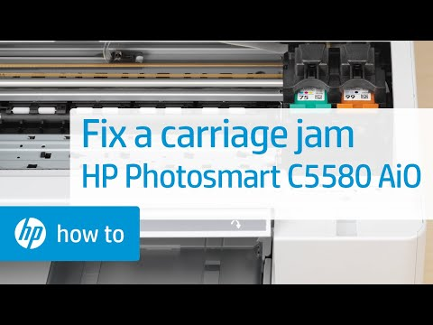 Fixing a Carriage Jam - HP Photosmart C5580 All-in-One Printer