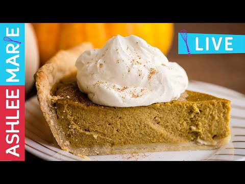 LIVE - How to make a Pumpkin Pie from a pumpkin! From scratch pie recipe