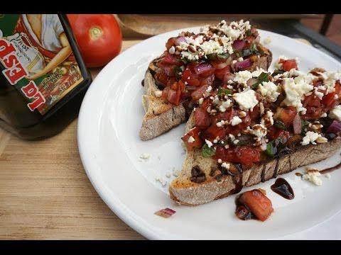 Quick & Easy: Basil Tomato & Feta Bruschetta
