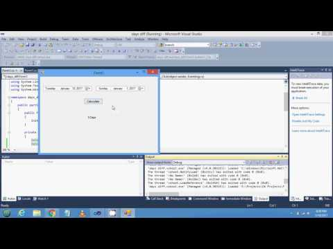 How to Calculate days from two date or two datetimepicker in c#