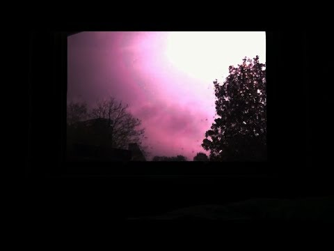 Thunderstorm and Rain Sounds from Bedroom Appartment Window (Real Time)