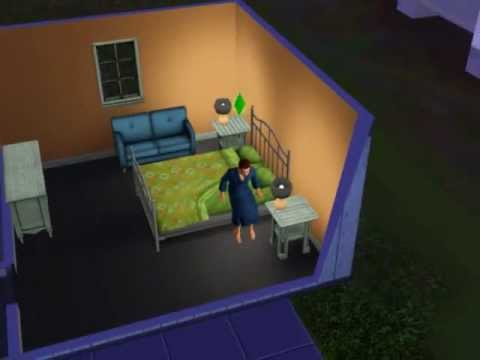 Sims 3 gameplay (the sleeping dude)