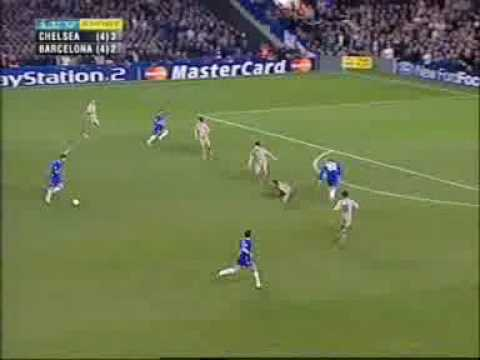 Barcelona Chelsea 2-4 Champions League 2005 second leg