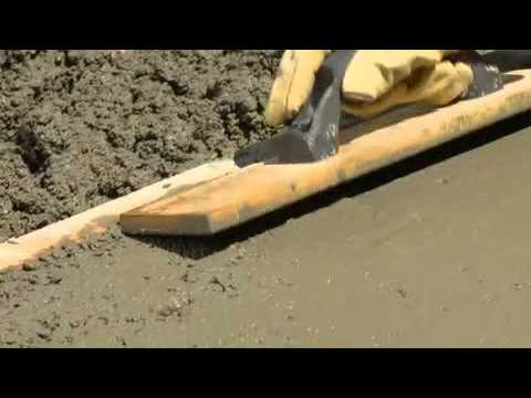 How to Pour and Finish Concrete
