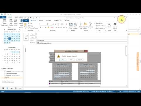 How To Share Your Calendar In Outlook 2013 and Exchange 2013