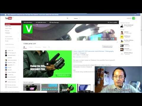 Customizing the New YouTube Channel Design in 7 Minutes (2013)