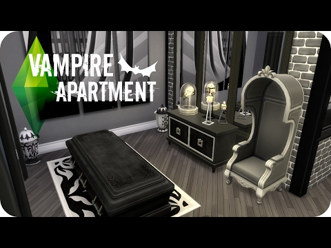 Sims 4 Speed Build   Modern Vampire Apartment