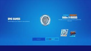 Epic Games/Fortnite Gave Me FREE 500 V-Bucks! & FREE Wrap! & Unlocking TRAVIS SCOTT Fortnite Rewards