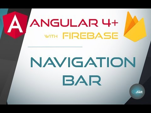 8. NAVIGATION BAR - Angular 4+ with Firebase & Material Design