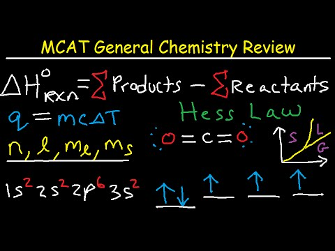 MCAT General Chemistry Lectures Review Prep Part 2 – Equations & Practice Questions