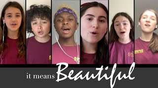 IT MEANS BEAUTIFUL (lockdown performance) | COVER of Everybody's Talking About Jamie - Spirit YPC
