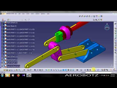 car jack assembly in catia assembly design