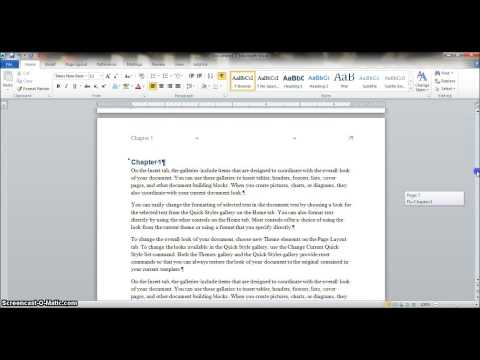 How to Make a Manual in Word 2010