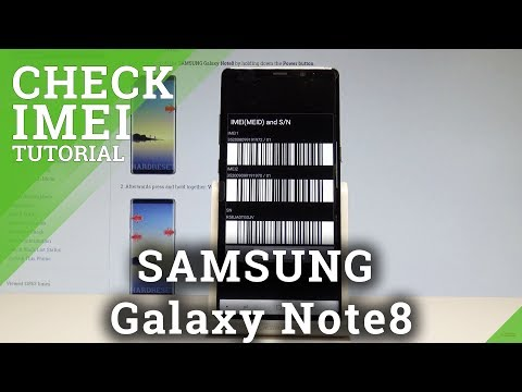 How to Check IMEI in SAMSUNG Galaxy Note8 - Serial Number |HardReset.info