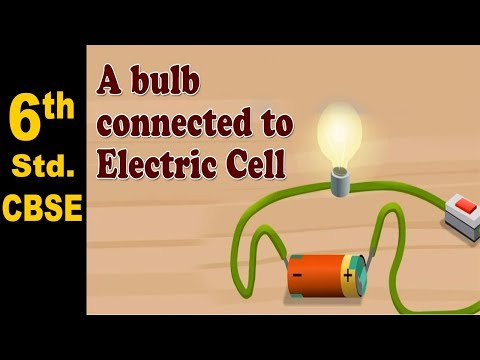 Electric bulb connected to Electric Cell | 6th Std | Science | CBSE Board | Home Revise