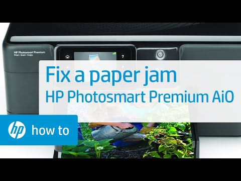 Fixing a Paper Jam - HP Photosmart Premium All-in-One Printer (C309g)