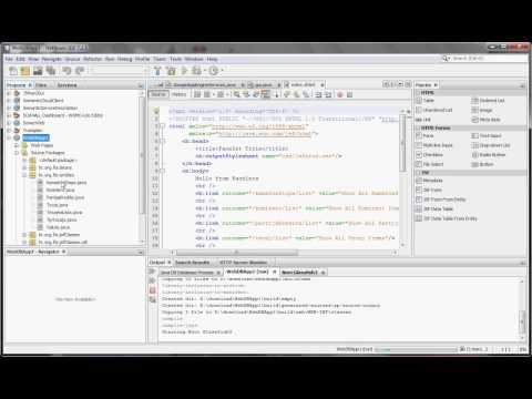 NetBeans: Create JSF Web Database Application