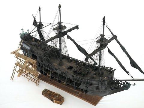 Building the black pearl ship model