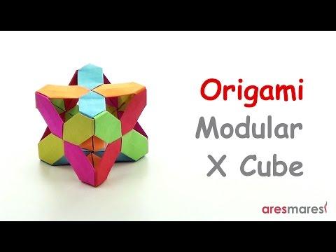 Origami X Cube (easy - modular)