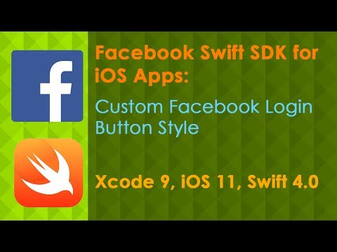 Custom Facebook Login Button (Xcode 9 Swift 4 iOS 11)