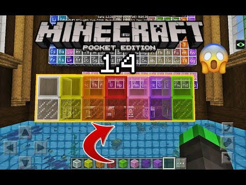 MCPE New STAINED GLASS BLOCKS in Minecraft PE! NO MODS and ADDONS! (Minecraft Pocket Edition 1.4)