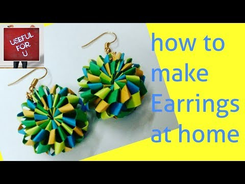 DIY- Tutorial-9 | How to make Quilling Paper Earrings at home | Handmade Jewellery | Useful For U
