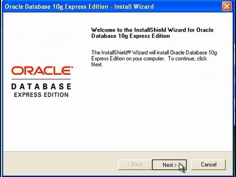 how to install oracle 10g express edition on windows XP 32 bit or 64 bit