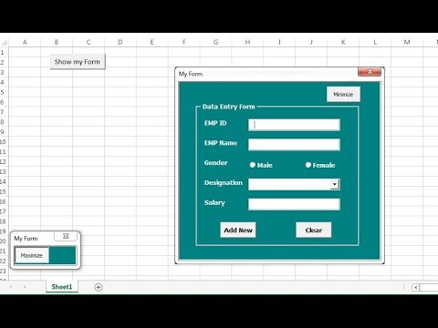 Toggle button to minimize and Maximize a User form