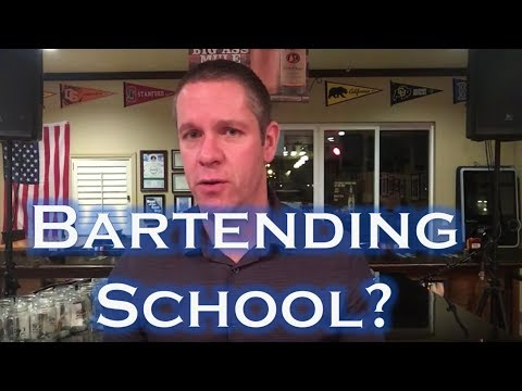 Should You Go To Bartending School?