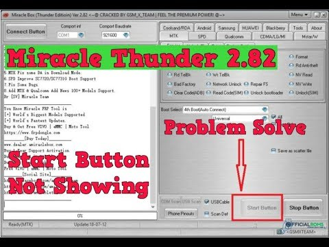 Download Miracle Thunder 2 82 Start Button Not Showing (Problem