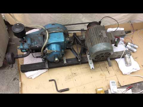 Induction motor setup as a Generator